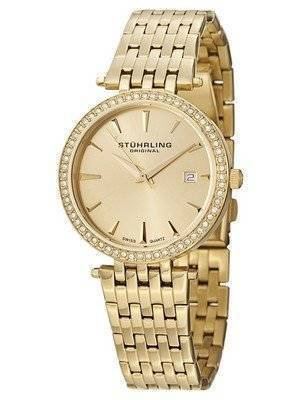 Stuhrling Original Soiree Swiss Quartz Swarovski Crystals 579.03 Women's Watch