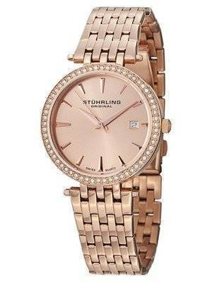 Stuhrling Original Soiree Swiss Quartz Swarovski Crystals 579.04 Women's Watch