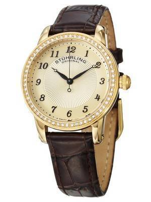 Stuhrling Original Symphony Ultra Slim Swarovski Crystals Swiss Quartz 651.02 Women's Watch