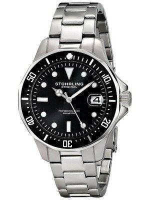 Stuhrling Original Aquadiver 200M Quartz Date 664.01 Men's Watch