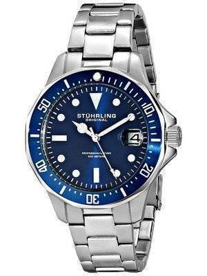 Stuhrling Original Aquadiver 200M Quartz Date 664.02 Men's Watch
