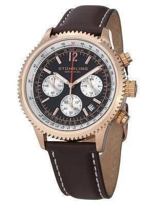Stuhrling Original Monaco Quartz Chronograph Rose Gold Plated 669.04 Men's Watch