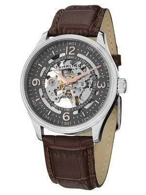 Stuhrling Original Denmark Delphi Automatic Skeleton Grey Dial 730.02 Men's Watch