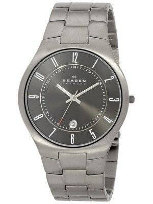 Skagen Grenen Titanium Black Dial 801XLTXM Men's Watch