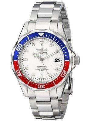 Invicta Pro Divers 200M Quartz White Dial 8933 Men's Watch