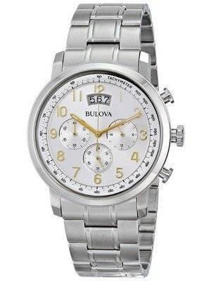 Bulova Chronograph Silver Dial 96B201 Men's Watch