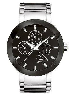 Bulova Black Dial Bracelet 96C105 Mens Watch