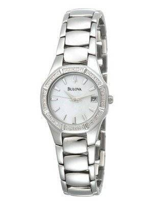 Bulova Diamond Accented Calendar 96R102 Womens Watch