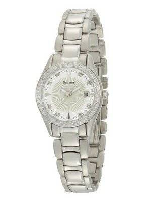 Bulova Diamond Case Mother-Of-Pearl Dial 96R133 Womens Watch