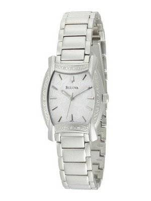 Bulova Diamond Case White Dial 96R135 Womens Watch
