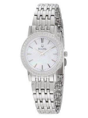Bulova Mother of Pearl Diamond Bezel 96R164 Women's Watch