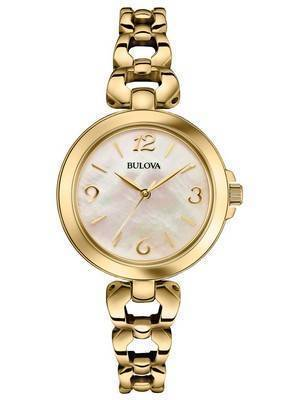 Bulova Mother Of Pearl Dial Gold Tone 97L138 Women's Watch