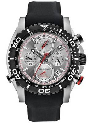 Bulova Precisionist Chronograph Tachymeter 200M 98B210 Men's Watch