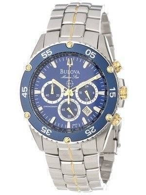 Bulova Marine Star 100M Chronograph Blue Dial 98H37 Men's Watch