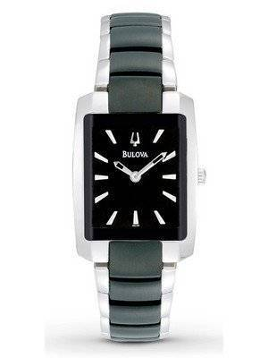 Bulova Black And Silver Two-Tone 98L148 Women's Watch