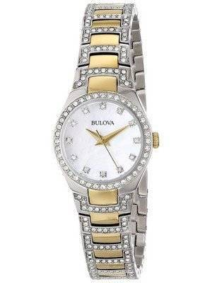 Bulova Crystal Accent Two Tone 98L198 Women's Watch