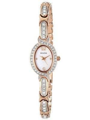Bulova Stainless Steel Swarovski Crystal 98L200 Women's Watch