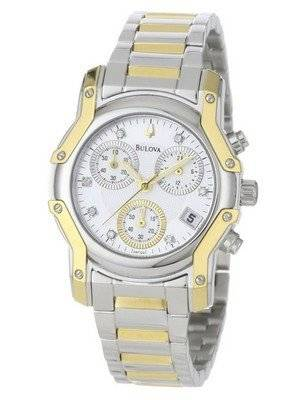 Bulova Diamond Chronograph 98P120 Women's  Watch