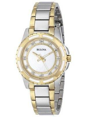 Bulova Diamond Accent Two Tone 98P140 Women's Watch