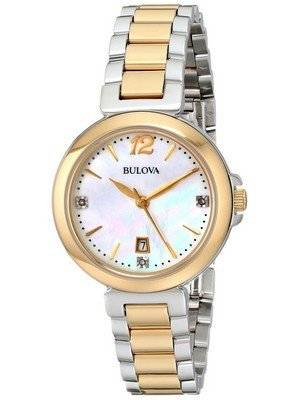 Bulova Diamond Gallery Two Tone 98P142 Women's Watch