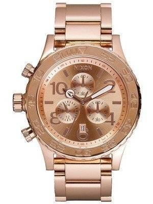 Nixon Quartz Chronograph Rose Gold-Plated 200M A037-897-00 Men's Watch
