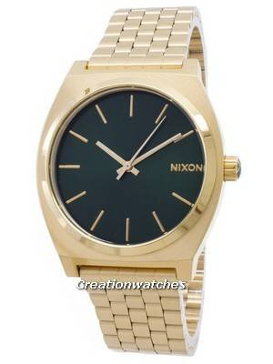 Nixon Time Teller Gold Tone Green Sunray A045-1919-00 Men's Watch