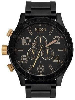 Nixon Matte Black Chronograph 300M A083-1041-00 Men's Watch