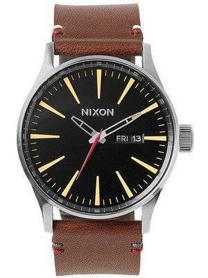 Nixon Quartz Sentry Brown Leather A105-019-00 Men's Watch