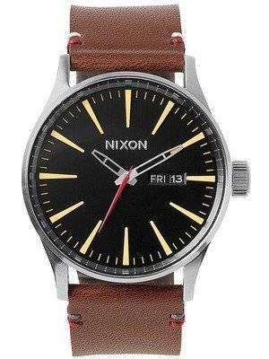Nixon Quartz Sentry Brown Leather A105-019-00 Men's Watch