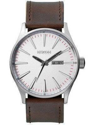 Nixon Quartz Sentry Brown Leather A105-1113-00 Men's Watch