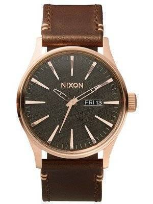 Nixon Quartz Sentry Leather Rose Gold A105-2001-00 Men's Watch
