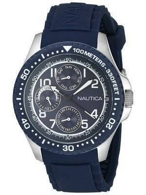 Nautica Multifunction Quartz Blue Dial A13686G Men's Watch