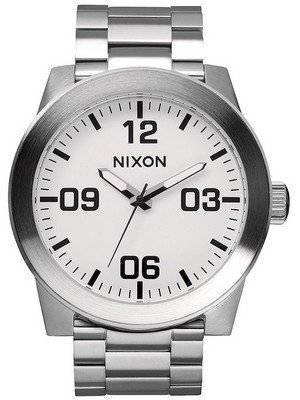 Nixon Corporal SS Quartz White Dial A346-100-00 Men's Watch