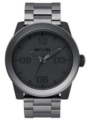 Nixon Corporal SS Matte Black Quartz Gunmetal Dial A346-1062-00 Men's Watch