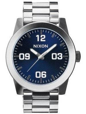 Nixon Corporal SS Blue Sunray Dial A346-1258-00 Men's Watch