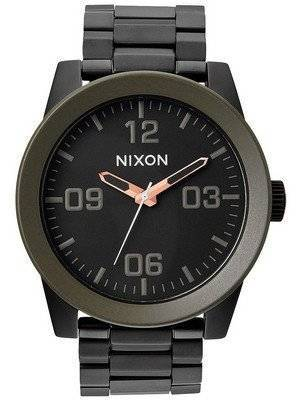 Nixon Corporal SS Matte Black Industrial Green A346-1530-00 Men's Watch