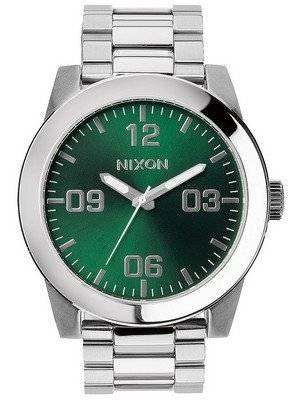 Nixon Corporal SS Green Sunray Dial A346-1696-00 Men's Watch
