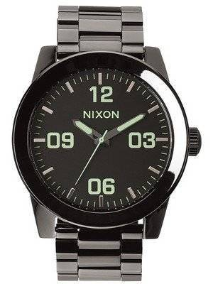 Nixon Corporal SS Polished Gunmetal A346-1885-00 Men's Watch