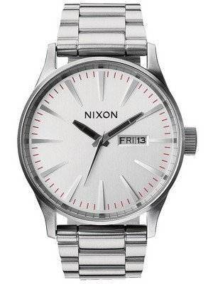 Nixon Sentry SS Silver Dial A356-130-00 Men's Watch