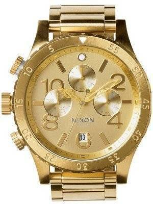 Nixon Quartz Chronograph All Gold 200M A486-502-00 Men's Watch