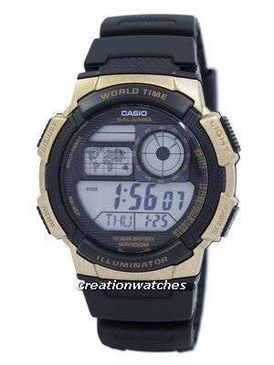Casio Illuminator World Time Alarm AE-1000W-1A3V AE1000W-1A3V Men's Watch