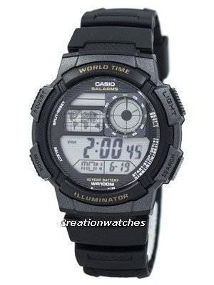 Casio Youth Digital World Time AE-1000W-1AV AE1000W-1AV Men's Watch