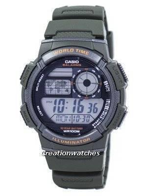 Casio Illuminator World Time Alarm Digital AE-1000W-3AV AE1000W-3AV Men's Watch