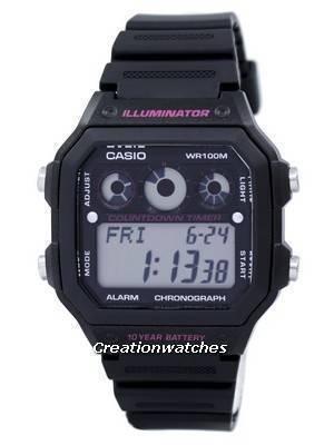 Casio Illuminator Chronograph Alarm Digital AE-1300WH-1A2V AE1300WH-1A2V Men's Watch