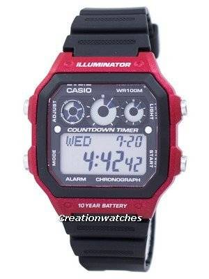Casio Youth Series Illuminator Chronograph Alarm AE-1300WH-4AV AE1300WH-4AV Men's Watch