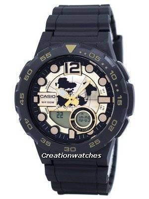 Casio World Time Alarm Analog Digital AEQ-100BW-9AV Men's Watch