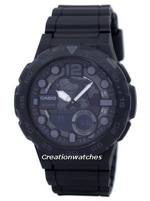 Casio World Time Alarm Analog Digital AEQ-100W-1BV AEQ100W-1BV Men's Watch