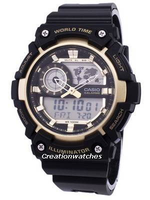 Casio Illuminator World Time Alarm AEQ-200W-9AV AEQ200W-9AV Men's Watch