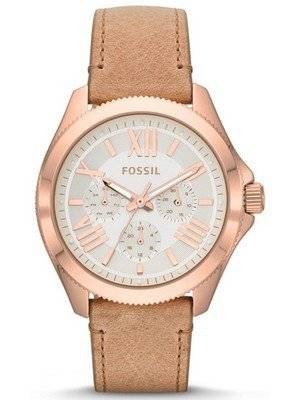 Fossil Cecile Multifunction Sand Leather Strap AM4532 Women's Watch