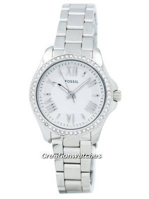 Fossil Cecile Silver Dial Crystal Stainless Steel AM4576 Women's Watch